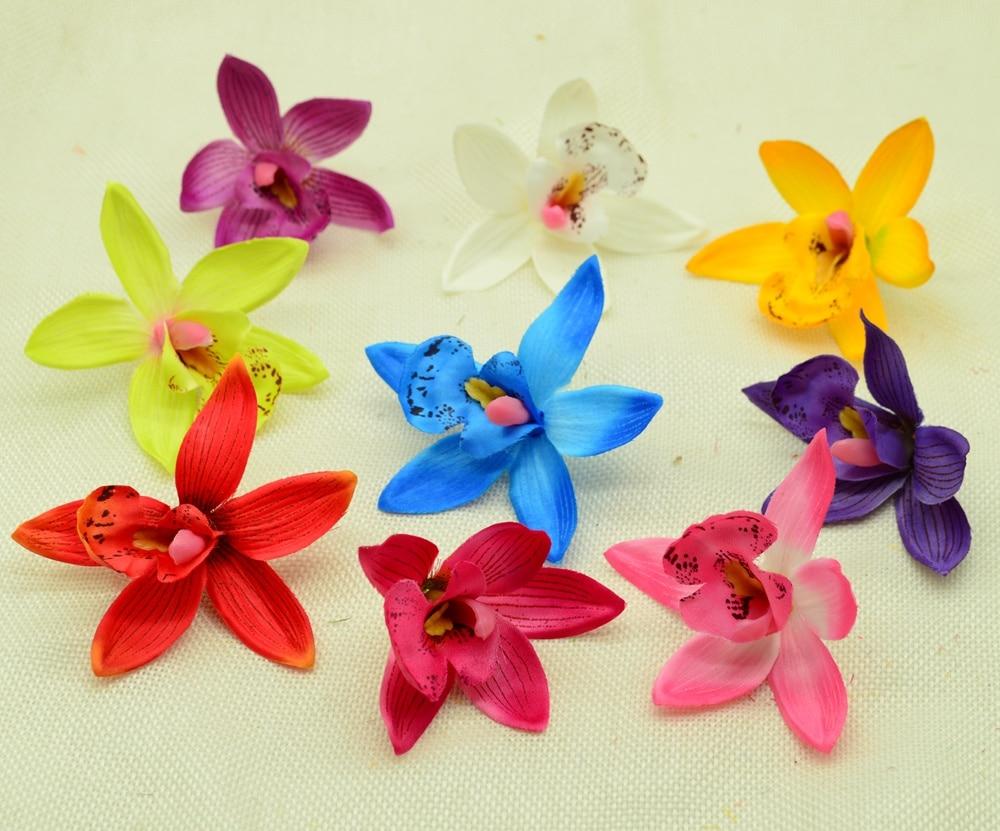 Artificial Flower Blossom Spring Silk Orchid Gladiolus Cymbidium Wedding Decor