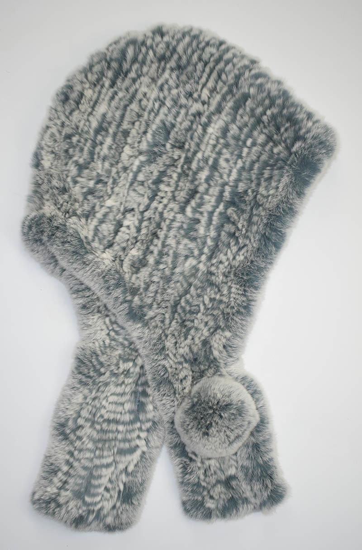 rex scarf hat grey