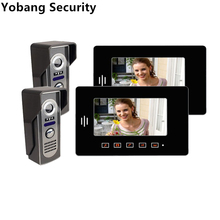 "Yobang Security 7"" Touch Screen Indoor Color Monitor Video Phone Video Cameras Intercom Video Intercom Entry Door Phone System"