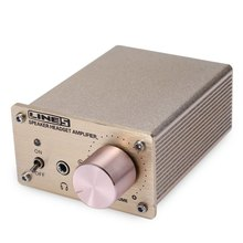 Portable A910 Mini Audio Computer Stereo Headphone Amplifier Golden 450mV Channels 3 (2.1)
