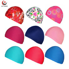 A Lot 12 pcs New Adult Mens Womens Kids Children Swimming Caps For Boys Girls Diving Hats Surfing Caps Free Size Free Shipping(China)