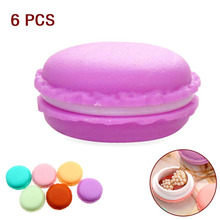 6PCS Bulk Jewelry Plastic Box Organizadores Gift Mini Macarons Candy Color Storage Boxs For Jewelry Organizer Wedding Decor EHO