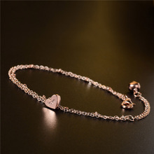 SHUANGR 2016 New Heart Love Letter Bracelets on leg the Anklets Female Barefoot Crochet Foot Jewelry For Women + Foot Chain(China)