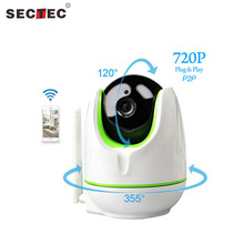 SECTEC Wireless 720P IP Camera WiFi IP Camera Two Way Audio Baby Monitor Pan Tilt Security Camera Easy Operate CCTV Video Camera(China)