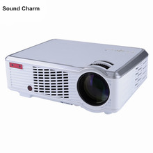 2000lumens Cheap HD LED Home Cinema Projector 3D LCD Multimedia Video game Beam Proyector with Long Life LED Lamp(China)
