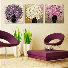 Triptych DIY oil painting by numbers wall canvas picture for living room decoration coloring by number flowers handwork SP022