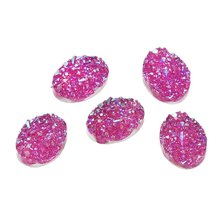 MJARTORIA 40PCs Oval Resin Cabochons 18x13mm Twinkling Flatback Dome Cameo Jewelry Making Supplies Hand Made Fit Cabochons Base(China)