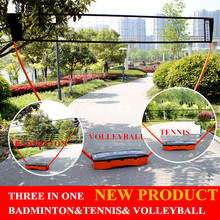 3 In 1   badminton tennis volleyball portable removable net stand sports game set  net stand for ourdoor game