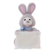Electronic Rabbit Play Hide & Seek Lovely Cartoon Stuffed Kids Birthday Gift 30cm Cute Music Plush Dolls Toy(China)
