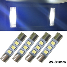 4x White LED 5630 3SMD Replace Bulb For 3056 3057 TS-14V1CP 6000k 28mm 29mm 30mm 31mm Car Interior Sun Visor Vanity Mirror Light(China)