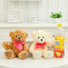 Hot Sale! 20CM Lovely Bear with Big Bow Tie  Stuffed Plush Doll Best  Gifts Special Offer Free Shipping  SY105B