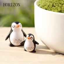 5PCS/set Cute Penguin Fairy Garden Gnome Animals Moss Terrarium Desktop Decor Crafts Bonsai Doll Home Miniatures DIY Decorations