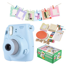 Fujifilm Instax Mini 8 Camera Kit Set w/ 20 * Film + Photo Frame + Clip + Hanging Strap blue and pink two colors available(China)