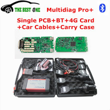 2017 Best Single PCB Multi-diag Pro+ 2014.R2/R3 Multidiag Pro Bluetooth + 4GB TF Card+Car Cables For Car Truck Diagnostic Tool