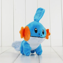 18cm Anime Peluche Toys Mudkip Plush Toy Soft Stuffed Dolls for Children Free Shipping