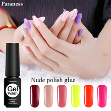 Paraness 7ML UV Nail Art Tools False Nails Glue Long Lasting Gel Nail Polish Soak Off Lucky Colour LED UV Gel Varnish
