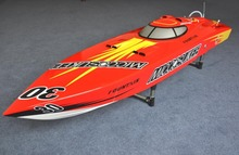DT G26I P1 Blade Fiberglass 26CC Gasoline RC Boat SpeedBoat w/ 26CC engine with Clutch -Red Color(China)