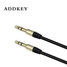ADDKEY 3.5mm Male to Male Audio Cable Flat Jack 3.5 mm Aux Cable for Car iPhone Samsung MP3 / 4 Headphone Mobile Phone Speaker