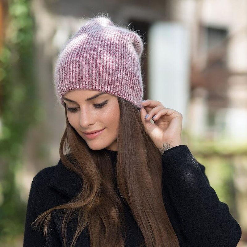 2018 new simple Rabbit fur Beanie Hat for Women Winter Skullies Warm  Gravity Falls Cap Gorros Female Cap - FR. Shopmy.fr Shopmy en Français  Acheter des ... 1f7999fce43
