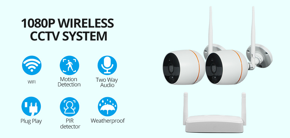 1080p wireless cctv system wifi