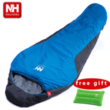 NatureHike Portable Multifuntional Ultralight Mini nylon mummy shape Outdoor Camping Travel Hiking Sleeping Bag 1100g 2 Colors