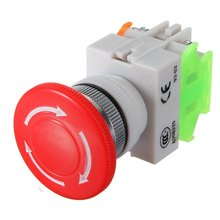 1 NC N/C DPST Emergency Stop Switches Push Button Switch Mushroom 4 Screw Terminals 600V/10A Promotion(China)