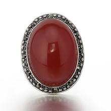 STOCK 2017 high quality new fashion elegant big natural red stone ring for women free samples OSR011