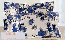 1140730014silk double side  printed Silk Pillowcase size 74cm*48cm+3cm good quality  pillow cover