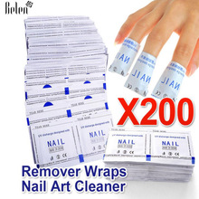 Belen New 2017 Professional Manicure 200 Pcs Gel Polish Remover Wipes High Quality Nail Gel Polish Nail Art Cleaner(China)