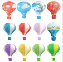 Wholesale 100 PCS/sets 12 inch 30CM Hot Air Balloon Paper Lantern for Wedding Party Birthday Craft Garden Decoration(China)