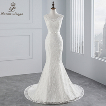 Buy PoemsSongs real photo 2018 new style beautiful lace satin wedding dress wedding Vestido de noiva Mermaid wedding dress for $78.44 in AliExpress store