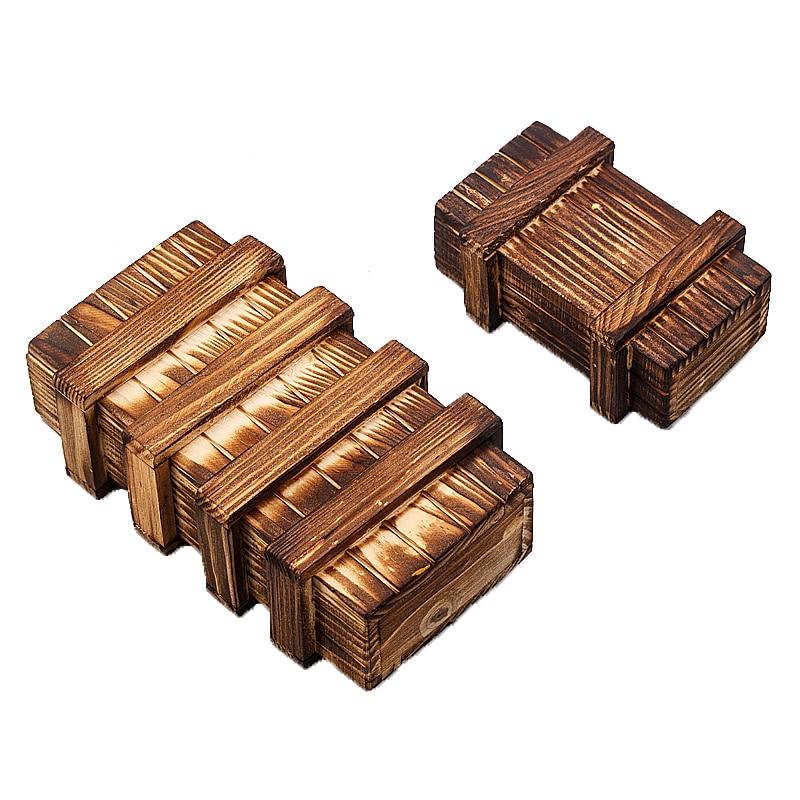 Magic Compartment Wooden Puzzle Box With Secret Dr...
