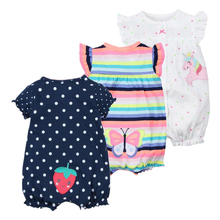 2018 infant clothes summer baby girl clothing unicorn jumpsuits baby clothes cotton short romper newborn baby girl romper roupas