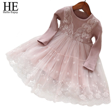 toddler girl dresses girls clothes 2018 New winter Thicken warm lace flower princess party dress infant clothing cheap children(China)
