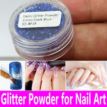 1 pot Nail Glitter Powder Nail Art Decorations PET Shimmer Dust UV Gel Acrylic Shining Crafts in 19 Colors Tiny Bottle Wholesale