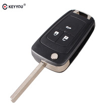 KEYYOU Replacement Shell Flip Folding Remote Key Case for OPEL VAUXHALL Insignia Astra 3 Button HU100 Uncut Blade(China)