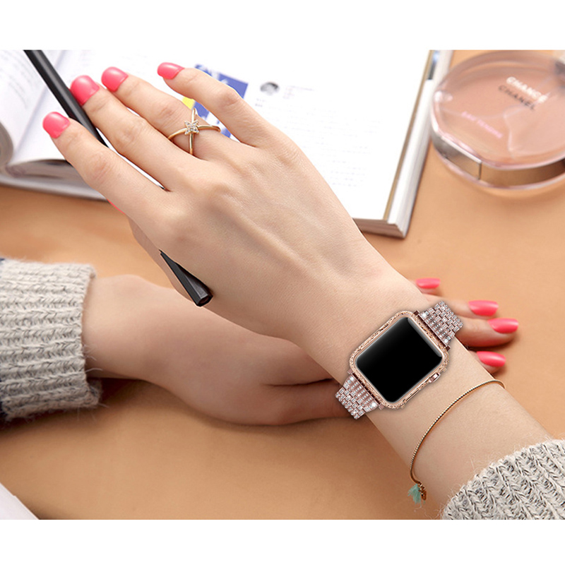luxury metal watch case for apple Housing cover watch shell 38-42mm (15)