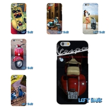 vespa scooter Soft Silicone TPU Transparent Cover Case For Samsung Galaxy Note 3 4 5 S4 S5 MINI S6 S7 edge