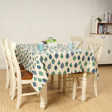 Forest Pattern Tablecloth for New Year Different Size Cotton and Linen Table cloth 140*220cm