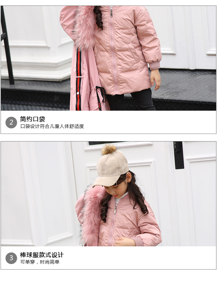 The new 2018 children down jacket girls live long baby cuhk in children's wear coat in live down jacket