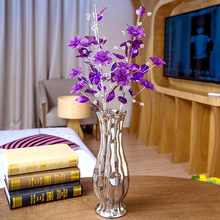 Fashion Top quality Crystal flower Decoration Crafts ceramic vase Figurines Home Decor Miniatures Wedding Gifts big small size