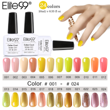 Elite99 10ml Yellow Series Nail Gel Polish Soak Off Gel Long Lasting UV Nail Art Gel Semi Permanent Nail Varnishes Gelpolish