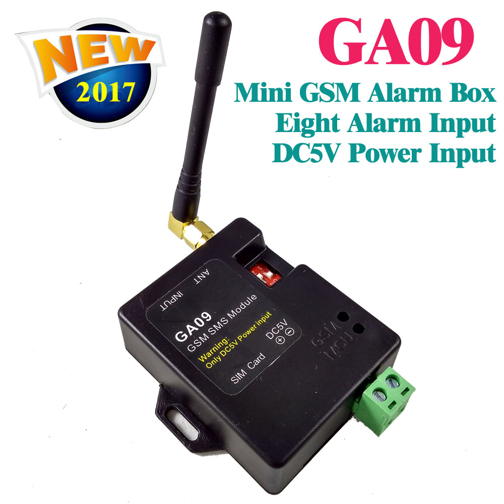 Free shipping GSM Alarm box SMS Alert Wireless alarm GA09 Home and industrial security alarm unit<br>