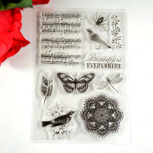 Coolhoo 1pc TPR silicon clear Stamp Beauty is everywhere Birds feather DIY Scrapbooking/Card Making/ Decoration Supplies