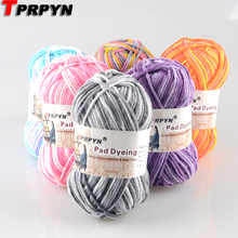 TPRPYN 1Pc=50g Thread Strings Cotton Blended Yarn Beautiful Mix Colors for Hand Knitting Doll Sweater