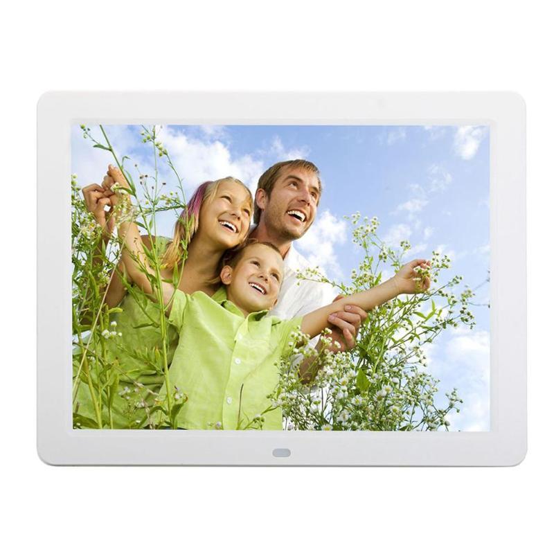 ALLOYSEED 12 Inch Digital Photo Frame 1280X00 HD LED Video Display Electronic Album Picture USB MP3 Music Player Clock Calendar 15