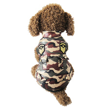 Buy camouflage army Small pet cat Dog cotton padded jacket coat Clothes Winter warm Dog puppy vest snow suit Clothing Chihuahua for $8.88 in AliExpress store