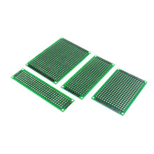 Free Shipping 20pcs 5x7 4x6 3x7 2x8cm Double Side Copper Prototype PCB Universal Board Fiberglass Board for arduino