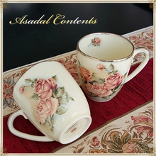 Queen Of South Korea Rose Cups, Ceramic Cups Lovers Mug Simple, High-Grade Gold-Plated Cups Child, Free Shipping!(China)