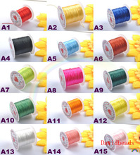 5 Rolls/50Meter 0.8mm Crystal Stretchy Elastic Craft Bracelet Beads Thread Cords Wire 15 Colors In Total for Jewelry Making(China)